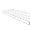 Rubbermaid Wardrobe 4-ft L x 12-in D White Wire Shelf