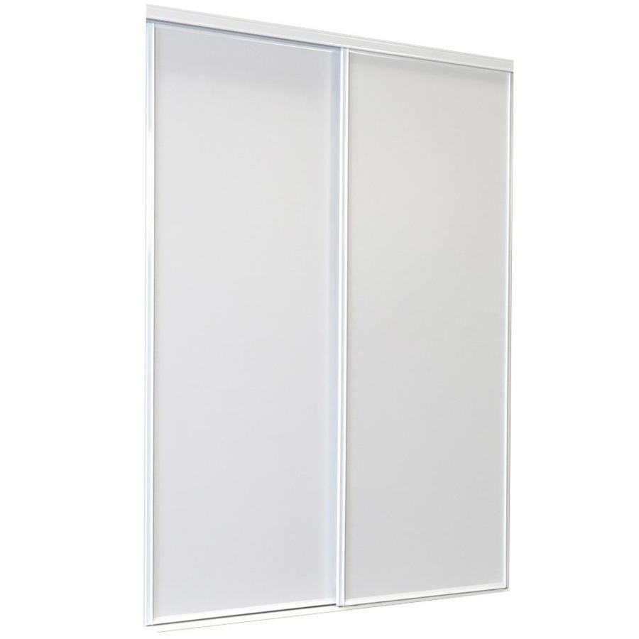 Shop Reliabilt White Flush Sliding Door Common 72 Inx 80 5 In Actual 72 Inx 80 Inches At