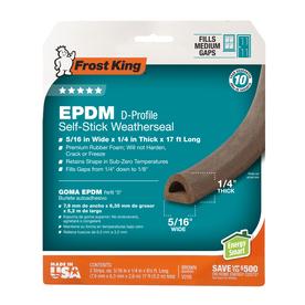 Frost King 2-Pack 0.312-in x 17-ft Brown Ethylene Propylene Diene Monomer Door Weatherstrips