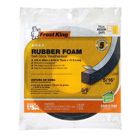 Frost King 3/8-in x 10-ft Black Closed Cell Foam Window Weatherstrip