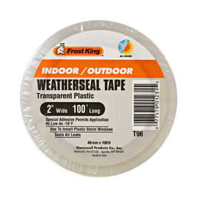 Frost King 2-in x 100-ft Clear Bopp Film/Acrylic Adhesive Window Weatherstrip