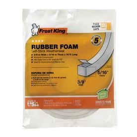 Frost King 0.375-in x 10-ft White Vinyl Foam Window Weatherstrip