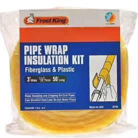 Frost King 1/2-in Fiberglass Plumbing Pipe Wrap Insulation