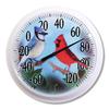 Garden Treasures Indoor/Outdoor White Bird Thermometer
