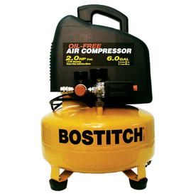 STANLEY-BOSTITCH 2-HP 6-Gallon 135-PSI Electric Air Compressor
