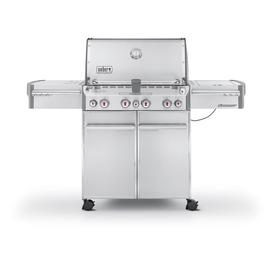 Weber Summit S-470 4-Burner (48,800-BTU) Liquid Propane Infrared Burner Gas Grill with Side Burner, Rotisserie Burner, and Integrated Smoker Box