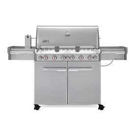 Weber Summit S-670 6-Burner (60000 BTU) Liquid Propane Gas Grill with Side and Rotisserie Burner