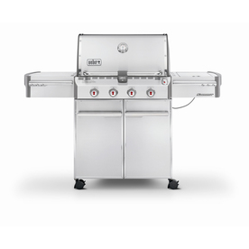 Weber Summit S-420 4-Burner (48800 BTU) Liquid Propane Gas Grill with Side Burner