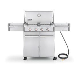 Weber Summit S-420 4-Burner (48800 BTU) Natural Gas Grill with Side Burner