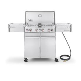 Weber Summit S-470 4-Burner (48800 BTU) Natural Gas Grill with Side and Rotisserie Burner