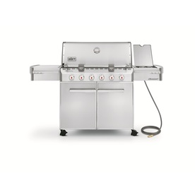 Weber Summit S-620 6-Burner (60000 BTU) Natural Gas Grill with Side Burner