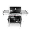 Weber Summit E-470 Black Porcelain Enamel 4-Burner (48,800-BTU) Gas Grill with Side and Rotisserie Burner and Integrated Smoker Box