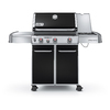 Weber Genesis E-330 Black Porcelain-Enameled Steel 3-Burner (38000 Btu) Natural Gas Gas Grill with Side Burner