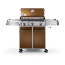 Weber Genesis E-330 Copper 3-Burner (38000 BTU) Liquid Propane Gas Grill with Side Burner