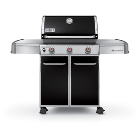 Weber Genesis E-330 Black Porcelain-Enameled Steel 3-Burner (38000 Btu) Liquid Propane Gas Grill with Side Burner