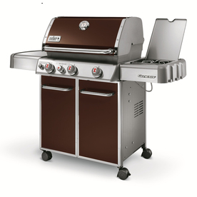 Weber Genesis E-330 Espresso 3-Burner (38,000-BTU) Liquid Propane Gas Grill with 1-Side Burners