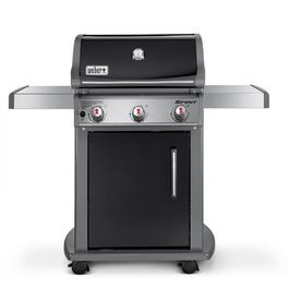 Weber Spirit Black Porcelain-Enameled Steel 3-Burner (32000 BTU) Liquid Propane Gas Grill