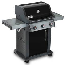 Weber Spirit Black Porcelain-Enameled Steel 3-Burner (32000 Btu) Liquid Propane Gas Grill with Side Burner