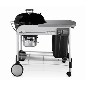 Weber Performer Platinum 22.5-in Black Porcelain-Enameled Kettle Charcoal Grill