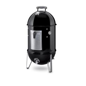 Weber Smokey Mountain Cooker 31-in H x 14.75-in W 286-sq in Black Porcelain Enameled Charcoal Vertical Smoker 711001