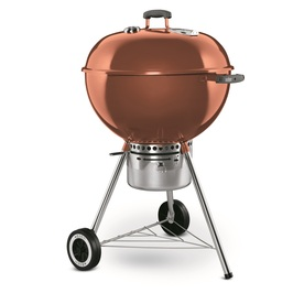 Weber One-Touch Gold 22.5-in Copper Porcelain-Enameled Kettle Charcoal Grill
