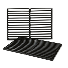 Weber 2-Pack Rectangle Porcelain-Coated Cast Iron Cooking Grate