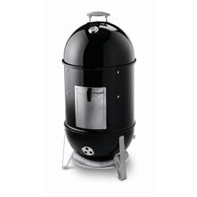 Weber Smokey Mountain Cooker Smoker 41-in 481sq in Black Porcelain-Enameled Charcoal Vertical Smoker