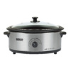 Nesco 6-Quart Stainless Steel Oval Slow Cooker