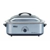 Nesco 18-Quart Silver Rectangle Steel Roaster Oven with Metal Lid