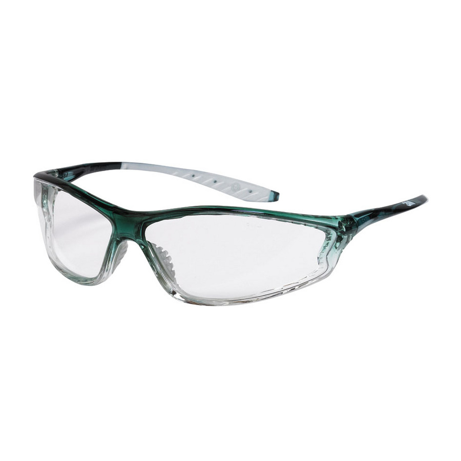 Shop 3M Green Frame with Clear Lens Plastic Safety Glasses ...