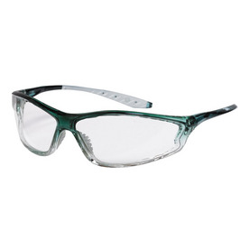 3M Green Frame with Clear Lens Plastic Safety Glasses