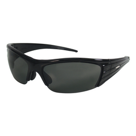 3M Black Frame with Gray Lens Plastic Safety Glasses