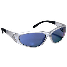 3M Silver Frame with Blue Lens Plastic Safety Glasses
