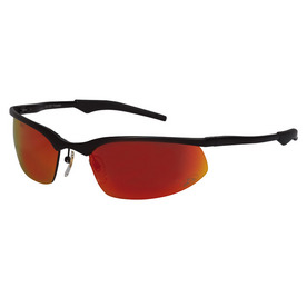 3M Black Frame with Red Lens Metal Safety Glasses