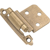 Hickory Hardware 2-Pack 2-5/8-in x 2-1/4-in Antique Brass Self-Closing Cabinet Hinges