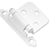 Hickory Hardware 2-Pack 2-5/8-in x 1-15/16-in White Self-Closing Cabinet Hinges