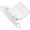Hickory Hardware 2-Pack 2-5/8-in x 2-1/4-in White Self-Closing Cabinet Hinges