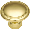 Hickory Hardware Eclipse Polished Brass Round Cabinet Knob