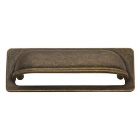 antiqued brass drawer pull