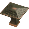Hickory Hardware Craftsman Oil-Rubbed Bronze Highlighted Square Cabinet Knob