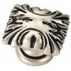 Hickory Hardware Ithica Satin-Antique Silver Rectangular Cabinet Knob
