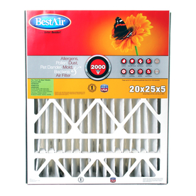 BestAir Furnace Filter Pleated Air Filter (Common: 25-in x 20-in x 5-in; Actual: 24.25-in x 19.75-in x 5-in)