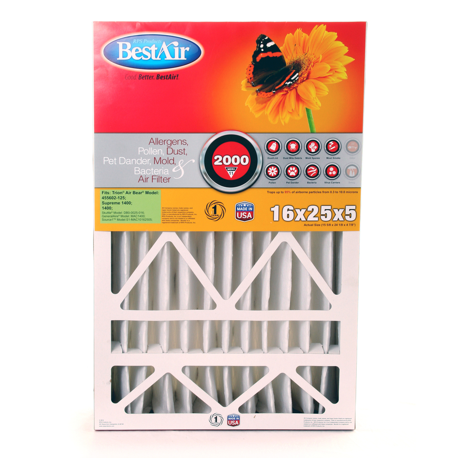 Shop Bestair Furnace Filter Pleated Air Filter Common 25