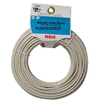 RCA 100' 4-Wire Round Station Wire Cord - Almond