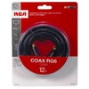 RCA 12-ft 18-AWG RG6 Black Coax Cable
