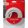 RCA 12-ft 18-AWG RG6 White Coax Cable