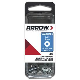 Arrow Fastener 1/8-in Steel Standard (SAE) Flat Washers