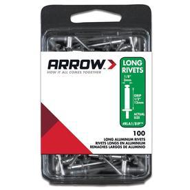 Arrow Fastener 100-Pack 1/8-in Plain Aluminum Rivets
