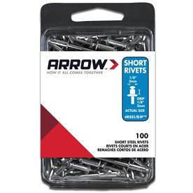 Arrow Fastener 100-Pack 1/8-in Plain Steel Rivets