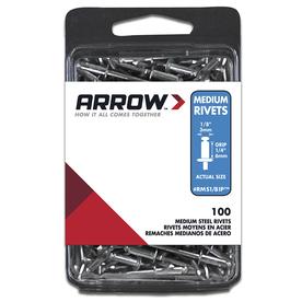 Arrow Fastener 100-pack 1/8-in Steel Rivet